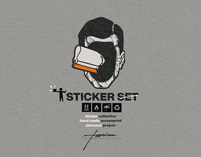 Custom Silkscreen Printed Sticker Set