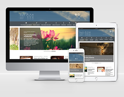 Fra3.net - Website Design for Franciscan Monks