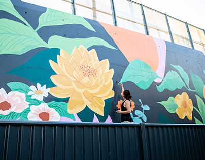 Broadbeach botanicals mural