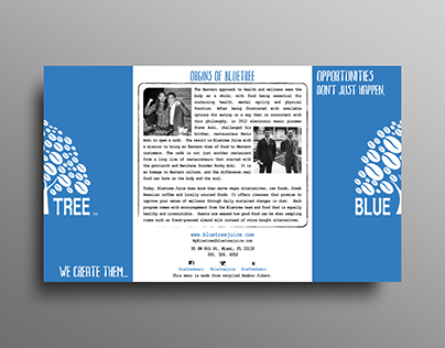 Bluetree Juice & Beanery Brochure