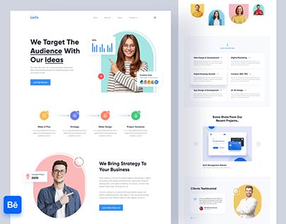 Digital Agency Landing Page Design