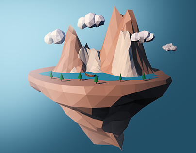3D Mountains design