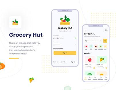 Food & Grocery Store App UI Template