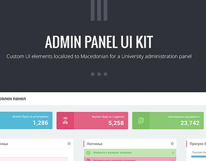Admin panel UI kit