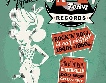 Catty Town Records postcards