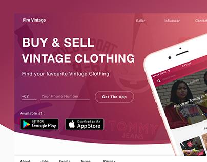 Landing Page Website Design for Fire Vintage