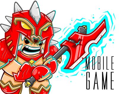 "Mobile Game ""Legendary Team""  Characters Artwork"