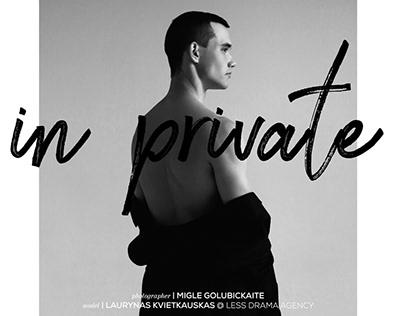 """In Private"" editorial for IMUTE MAGAZINE"