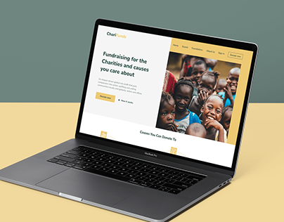 CHARIFUNDS - FUNDRAISING FOR CHARITIES WEB LANDING PAGE