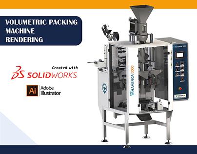Volumetric Packing Machine Rendering