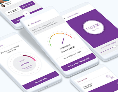 BirthRight PregnancyApp UI