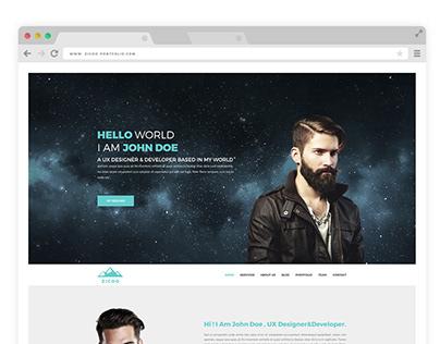 Zicoo- One Page Resume / Portfolio PSD Template