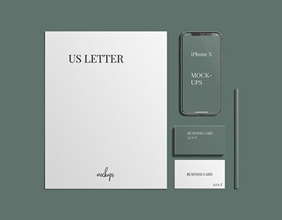 Free Stylish Stationery Branding Mockup