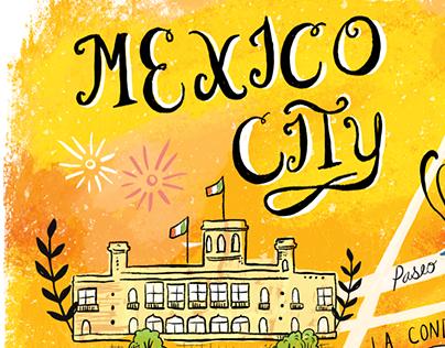 Mexico City Tourist Map