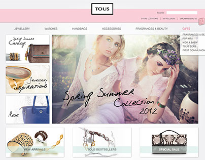 TOUS | Website Design