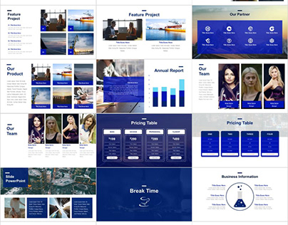 BLUE REPORT THEME POWERPOINT