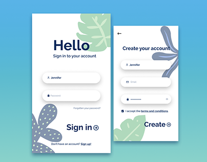 Daily UI Challenge - #001 - Sign up form