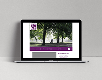 Running Club Landing Page Concept