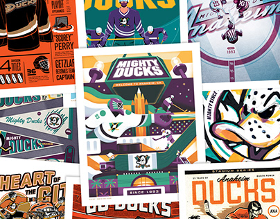 Anaheim Ducks - Tribute Night Poster Series