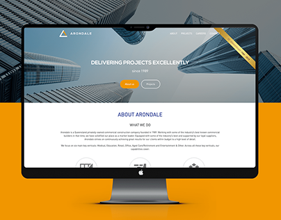 Arondale | One-page website