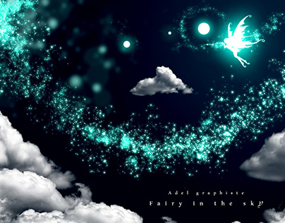 Fairy in the Sky illustration by Adel Hemici
