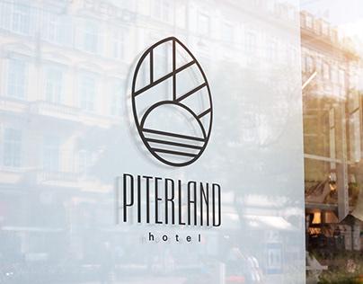 Piterland Hotel. Logotype & Brand identity