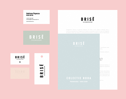 Fashion Branding — Brisē Showroom, 2017