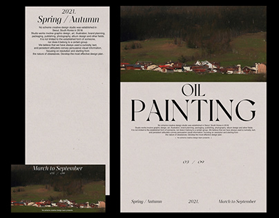 OIL PAINTING Poster design
