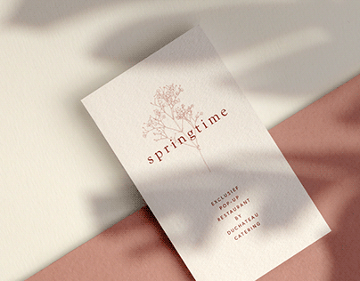 Branding Springtime pop-up restaurant
