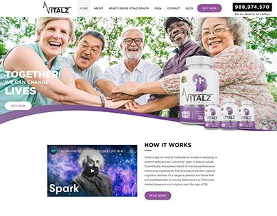 Vitalz Health | Wix Website Design | Wix Studio