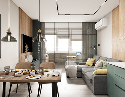 Apartment in residential complex Galaxy, 68sq.m