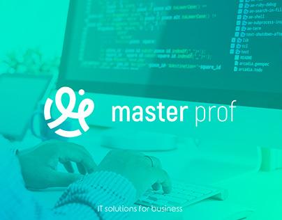 MasterProf - Logo for IT-company