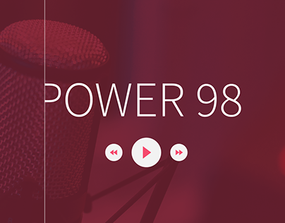 Power 98 Radio - Web Design ( UI / UX )