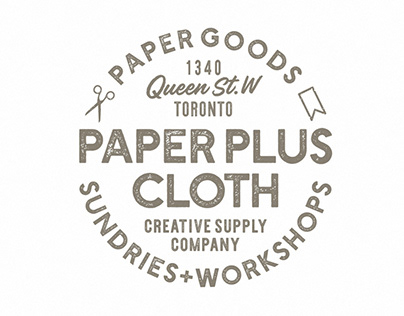 Paper Plus Cloth Logotype Seal/Stamp Design