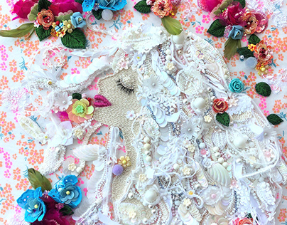 """""""Thegoddess of flowers"""" Embroidery art"""