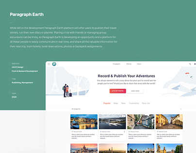 Paragraph Earth - Travel Management & Publishing App