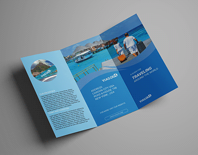 Traveling tri-fold brochure