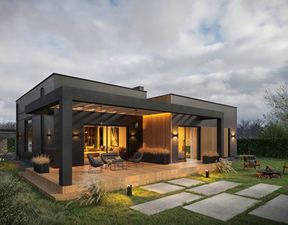 VISUALIZATION OF A MODERN COUNTRY HOUSE