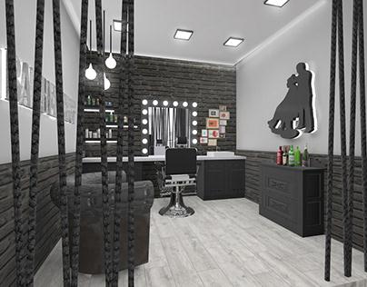 Hair Salon in Naxos | 3D Visualization