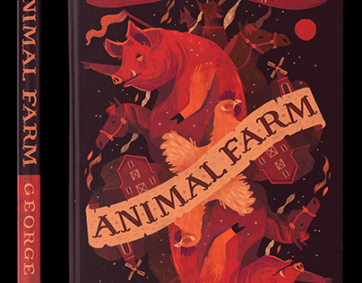 Animal Farm by George Orwell Book Cover Design