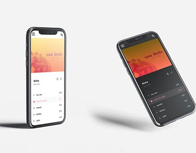 Music mobile application design (light & dark mode)
