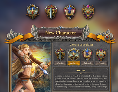 MMO character creation UI/UX