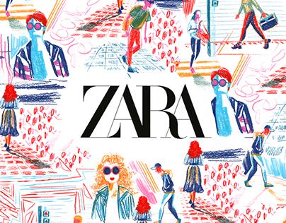 Cartoon prints for ZARA TRF and ZARA MAN