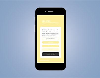 Micro.blog UI Concept
