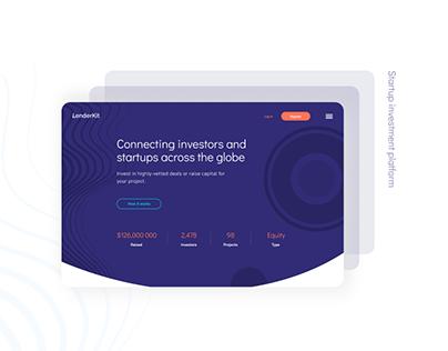 Crowdfunding platform design | LenderKit startup theme