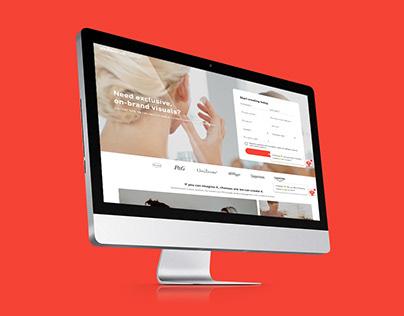 Shutterstock x Yves Rocher Landing Page