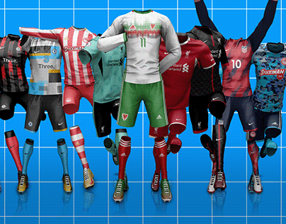 Full Action Soccer/Football Jersey Mock-up Templates