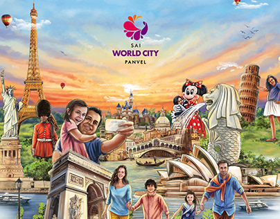 Sai world city illustrations & Creatives