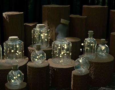 Fireflies Mason Jar