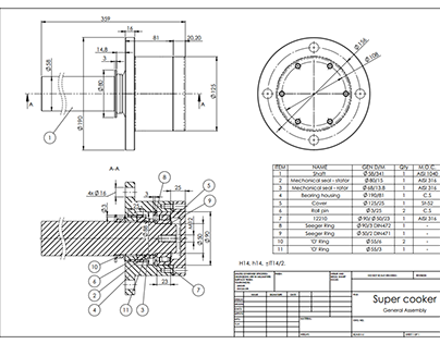 Solidwork drawings for manufacturing